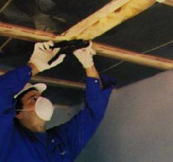 Safe-t-Flex: radiant ceiling heating: stapling elements to joist