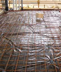 Safe-t-SLAB: In-Slab heating cable installation