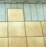 Safe-t-WIRE underfloor heating cable in an under-tile installation